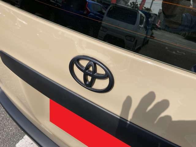 トヨタエンブレム・バンパー・ドアミラーなどマットブラック仕上げをしました。