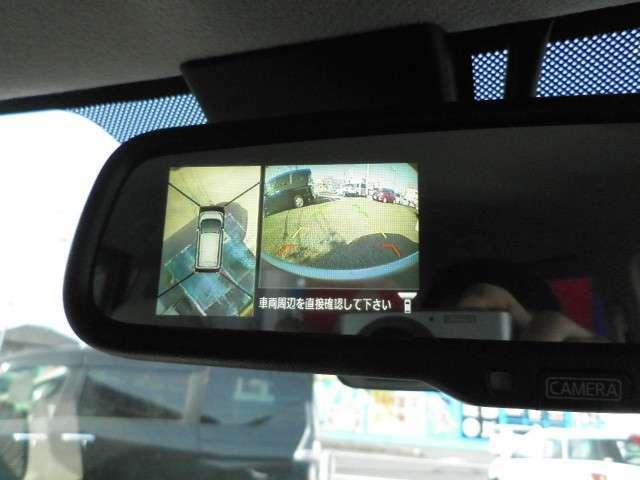 アラウンドビューモニター装備。前後左右4つのカメラから解析した、まるで上から車を見たような画像が映し出され、車の死角や駐車場の線も確認ができるようになります。日産の先進装備の1つです。