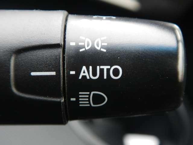 暗くなったら自動的にライトOn!のオートライトを装備です。