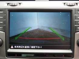 後方確認はオマカセのリアカメラ付 車庫入れもラクラクです