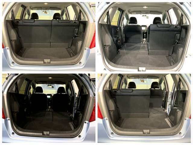 開口部の大きなハッチバック式でお荷物の出し入れラクラクです。車内からお荷物を取れて便利です。駐車時に後方の車両感覚が掴みやすいので安心できます。