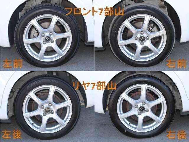 Aプラン画像:タイヤの残り溝は7部山程度とまだまだ安心して乗りいただけます。