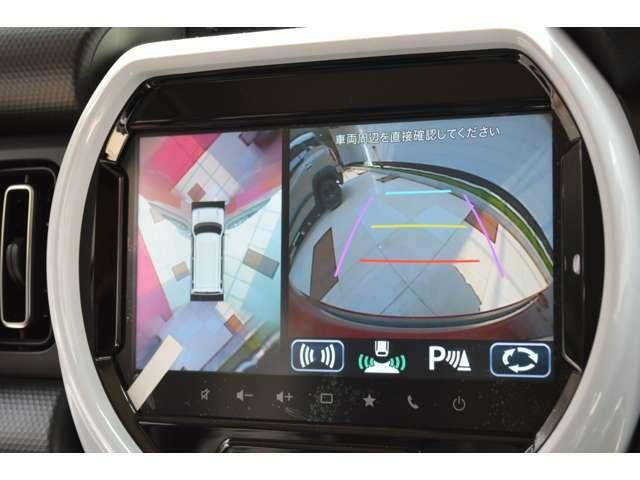 高画質で見やすく大きくて操作しやすい新開発9インチHDディスプレイ搭載全方位モニター付メモリーナビゲーションは斜めからの視認性も良く運転席助手席からも見やすくクルマの中でも安心してアプリが利用できます