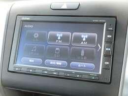 ナビゲーションはギャザズメモリーナビ(VXM-184Ci)を装着しております。AM、FM、CD、Bluetoothがご使用いただけます。初めて訪れた場所でも道に迷わず安心ですね!