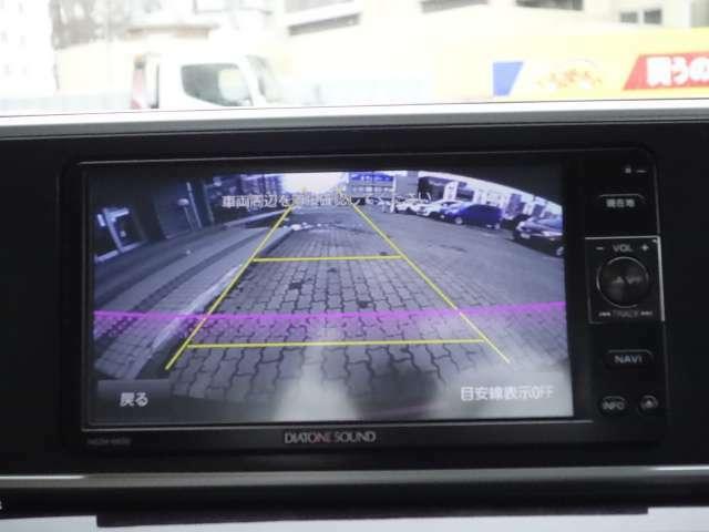駐車時の後方確認に役立つバックカメラ装備!