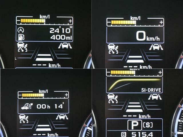 インフォメーションディスプレイ・スピードメーターやSIドライブ情報、レーダークルーズやアイドリングストップ時間などドライビングに近い情報をダイレクトにキャッチ!