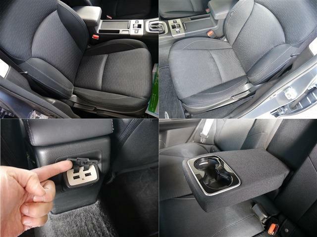 使用頻度の多いフロントシート左右も御覧のようにキレイです・後席専用USB電源ソケット・後席専用ドリンクホルダー付きアームレスト