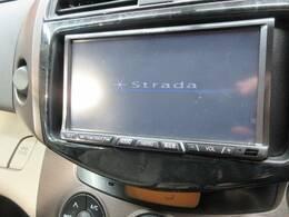 ストラーダHDDナビを装備でロングドライブも快適です。フルセグTV視聴可能!