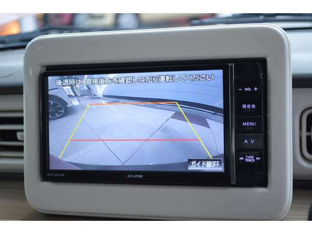 イクリプスのメモリーナビゲーションは、ワンセグTVが楽しめ、バックモニターも装備です