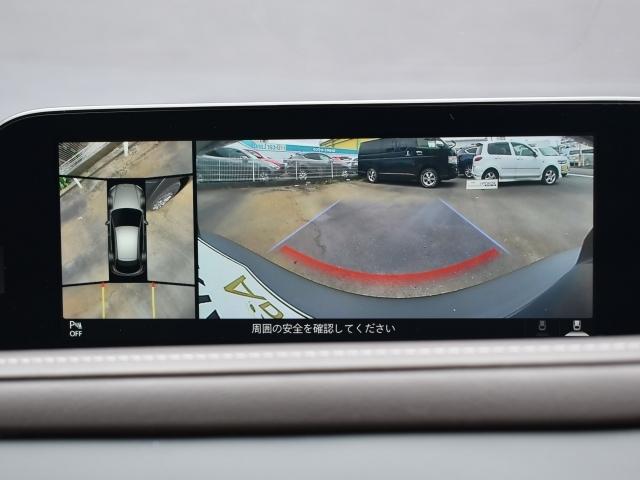 360度ビーモニター。車両の前後左右に備えた計4つのカメラを活用し車両を上から俯瞰したようなトップビューにより初めての駐車場でもストレスなく入れることができます。