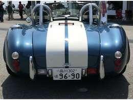 数あるコブラレプリカの中でも、最も美しいボディラインを持った車です。