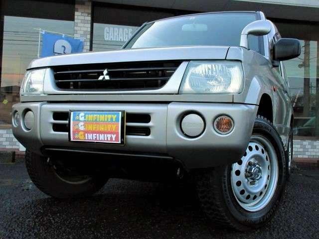 ミツビシのクロスカントリー軽 パジェロミニ♪パートタイム4WDです♪車検は令和4年9月までたっぷり残っております♪走行も6.6万kmですのでこれからの愛車にもピッタリです♪