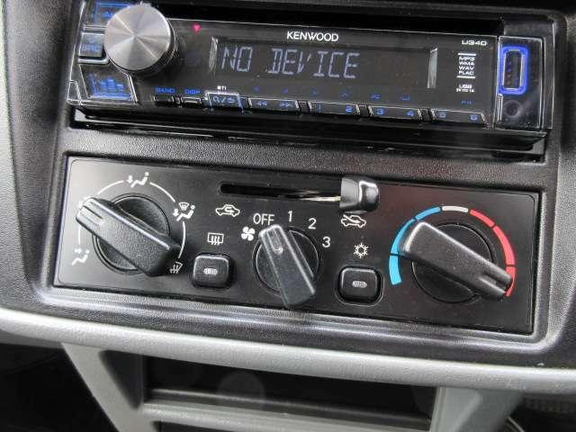 Aプラン画像:エアコンはシンプルなダイヤル式です♪表記もわかりやすく使いやすいです♪パネルやスイッチ類には汚れや傷などもなくキレイな状態です♪