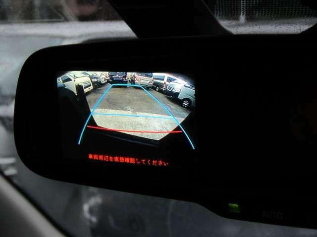 後方の安全確認、パーキングサポートなどに便利なバックモニターが装備☆