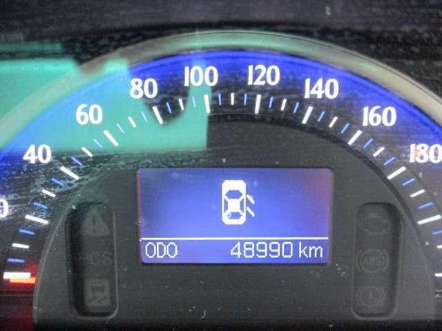 【メーター】走行距離4.9万キロ。大きくて見やすいメーターです!