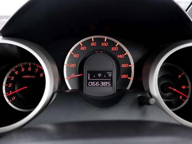 【メーター】現在の走行距離66385kmでございます。