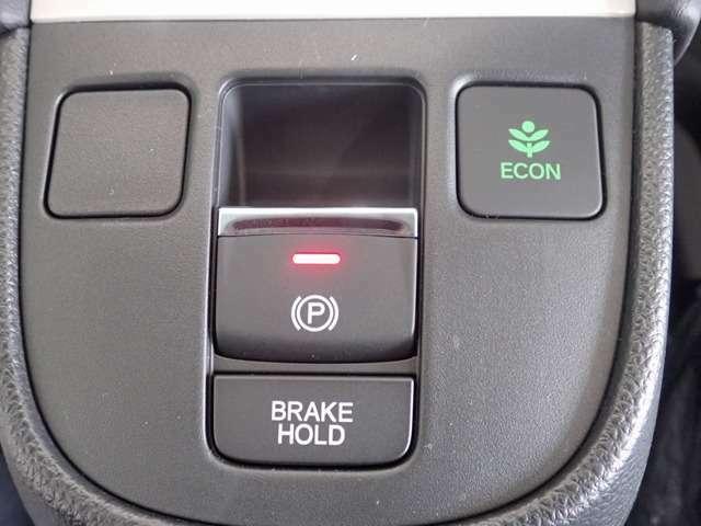 電子式パーキングブレーキ!ブレーキホールド機能も搭載しているので、渋滞の長い停車時間も快適です