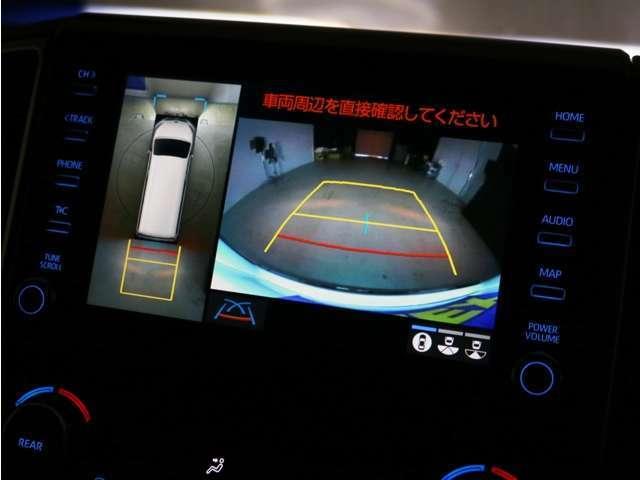 フロント・サイド・バックビューモニター!車両を上から見たようなパノラミックビューモニターも完備されております♪