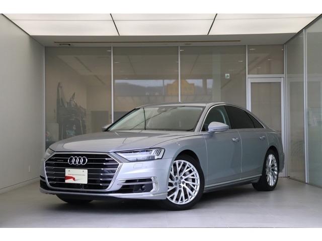 2018年モデル Audi A8。レーザービームヘッドライトとコンフォートシートがオプションとして装備されております。