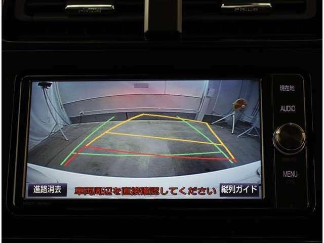 バックモニターは車庫入れの強い味方。 車は構造上、死角がたくさん。後退時の死角をチェックするために便利ですよ。◆夜間でも視認性に優れています。