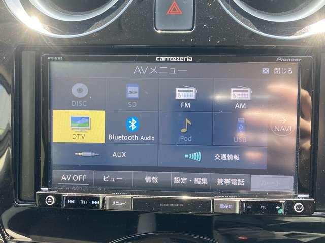 【社外SDナビ(AVIC-RZ502)】CD/DVD/Bluetooth/ワンセグTV