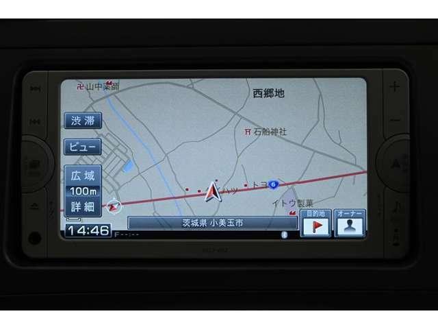 純正SDナビゲーションです。(NSCP-W62) 初めて行く場所も道に迷うことなく安心です。