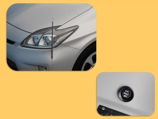 オートフェンダーポールは左前の先端予測がしやすくなります!洗車機に入れるときはご注意下さい!