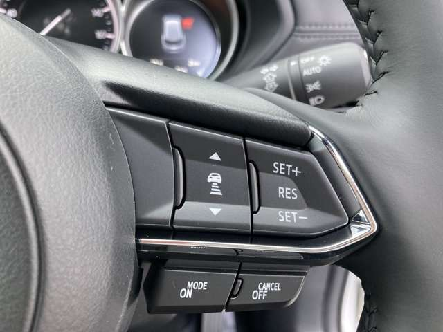 ◆マツダ・レーダー・クルーズ・コントロール【アクセルを離しても前方の車に合わせて走行ができる装備です。】