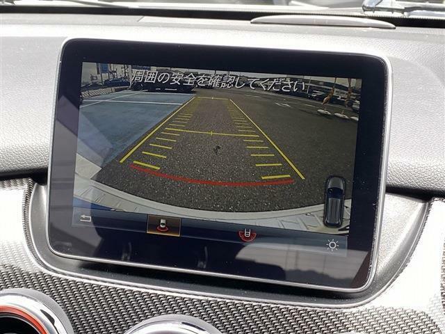 パーキングアシストリアビューカメラ装備☆車両後方の映像をディスプレイ表示☆歪みの少ないカメラと、鮮明な画像で後退時の運転操作をサポートします☆