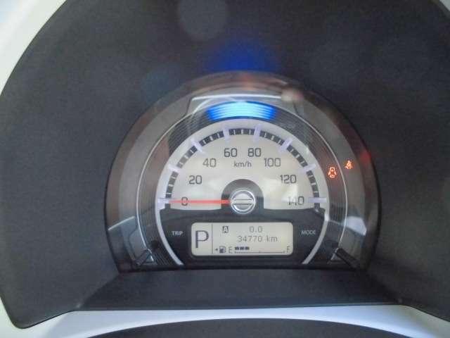 とっても見やすいメーターです!走行距離34770km!