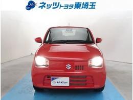 【フロント】赤が映えるアルトは経済的な一台!小回りも効いて便利で使い勝手良し!