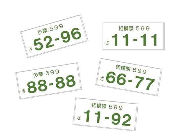 Bプラン画像:車のナンバーをお好きな数字にできるプランです!(抽選ナンバーを除く) 一部ご希望に添えない場合がございます。