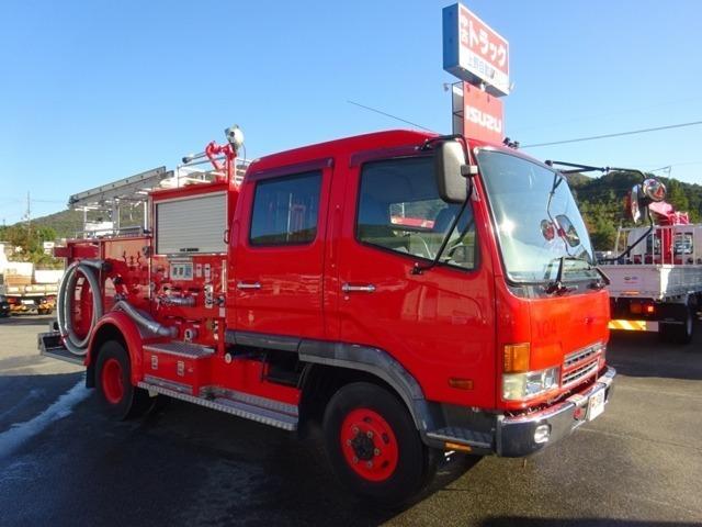 ★平成13年式/三菱ふそう/ファイター/4WD ★モリタ製/水槽付消防ポンプ自動車/容積1.5KL