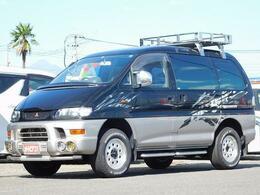 三菱 デリカスペースギア 3.0 シャモニー エアロルーフ 4WD ・ナビ・オートステップ・4WD