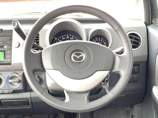 比較的綺麗な状態を保たれているハンドルですので、気持ちよく運転できます。