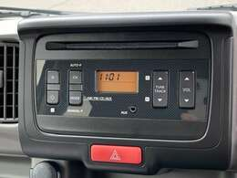 CDステレオ装備です☆移動中に好きなCDやラジオを聴いたり、情報収集ができたりと移動時間も有意義に使えますね!