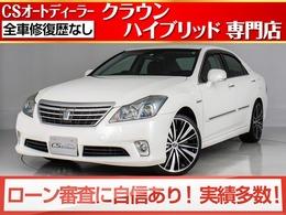 トヨタ クラウンハイブリッド 3.5 Gパッケージ 後期型/黒本革/新品20インチAW&タイヤ