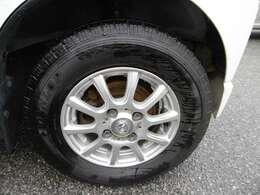 アルミホイール付です、タイヤ溝あります
