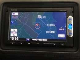 ホンダ純正「XM-145C」メモリーナビ装備です。CD・ラジオ対応です。