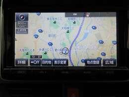 トヨタ純正ナビ装備!地図描写は文字も道もクリアで見やすく、滑らかに表示します。これさえあればもう道に迷わないですみますね♪フルセグで地上波デジタル放送TVもバッチリ綺麗に見れちゃいます♪