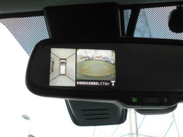 CMでおなじみアラウンドビューモニター☆空から見たような画面で縦列駐車も車庫入れも安心です