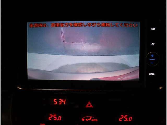 バックカメラで後方視界も確認可能!!暗い場所でも駐車をアシスト!!
