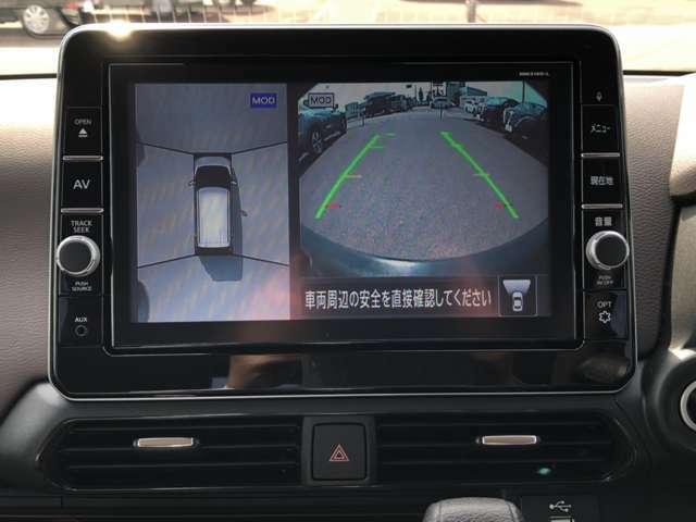 アラウンドビューモニター付き!バックや駐車の苦手な方や運転初心者の方などにオススメで便利な安全機能です(^^)/