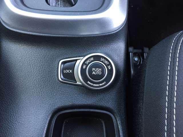 「走行モード切替」 スノーモードからスポーツ走行までスイッチ一つで切り替えできます♪