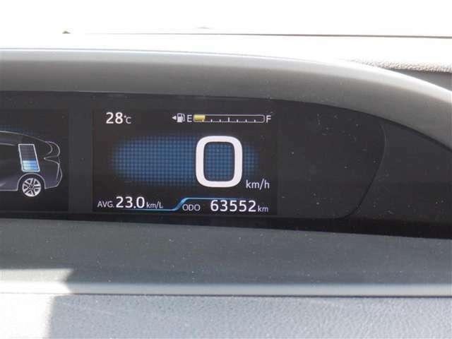 撮影時の走行距離は約6.4万kmです。安心のハイブリット保証付きです。