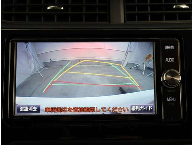 バックモニター搭載で車庫入れ安心!バック中の死角部分がモニターに映し出されるので安全性アップ!