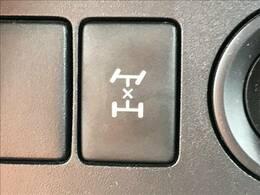 デフロックを装備。力強い4WDは悪路の走行も可能です!