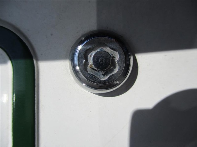 盗難防止機能付きナンバーロックボルト