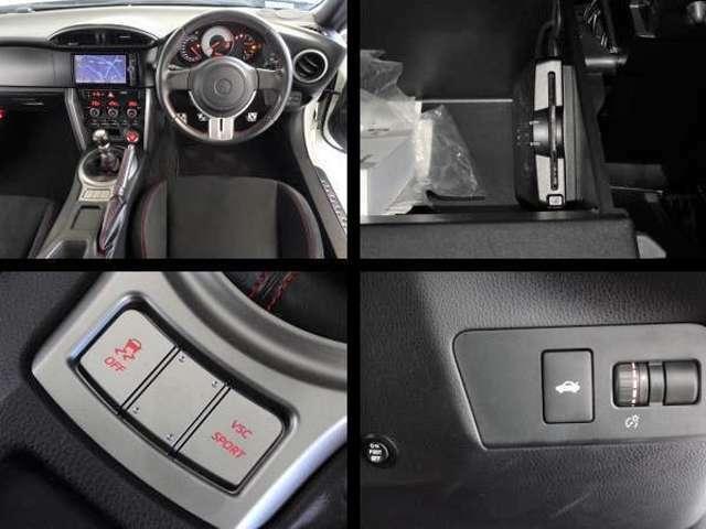運転席周りの写真です。高速道路で便利なETCを装備してます。横滑り防止装置も装備してます。