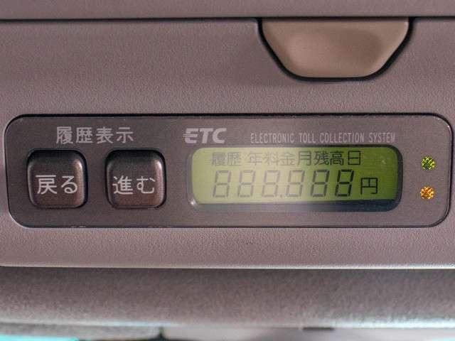 ETC搭載。高速道路の料金所も楽々通過できます。